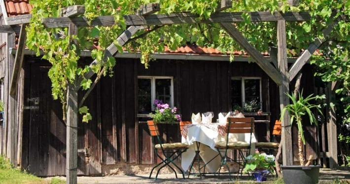 Garten - Landhaus Lebert Hotel Restaurant bei Rothenburg