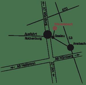 Anfahrt Landhaus Lebert Hotel Restaurant bei Rothenburg